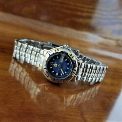 New Vintage Gruen Gold And Silver 6000 Sport Watch Day And Date