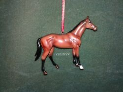 BREYER 2015 BEAUTIFUL BREED CHRISTMAS ORNAMENT WITH BOX THOROUGHBRED