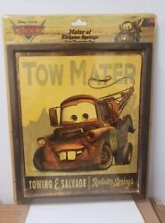 Lot Of Two Lightning Mcqueen And Tow Mater Disney Pixar Cars Vintage Ad Signs