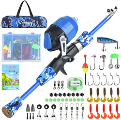 Milerong Kids Fishing Pole Telescopic Fishing Rod And Reel Combo For Youths