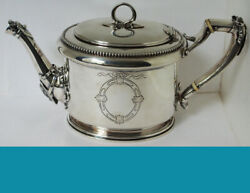 Gorham For Bigelow Bro And Kennard Coin Silver Tea Coffee Pot Medallion 1845 Year