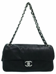 Punching Leather Chain Shoulder Bag A37577 T100
