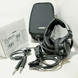Bose A20 Aviation Headset With Bluetooth Dual Plug Cable - Black Good Condition