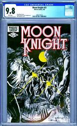Cgc 9.8 Moon Knight 21 White Pages 1st Series 1982 Bill Sienkiewicz Cover