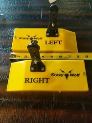 2 Krazywolf Fishing Lure Planer Board Trolling Right And Left Yellow Bird Walleyes