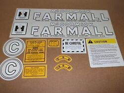 Farmall Model C Decals. All Decals On Tractor. Mylar. Years 1949-51. C-details