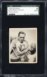 1948 Bowman 106 Ernie Steele Wrong Back 108 Buford Ray Sgc Authentic