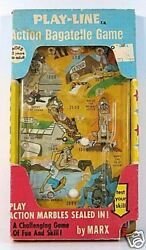 Nutty Mads Bagatelle Playline Action Game Marx 1964 Mib