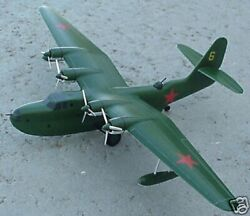 Ant-44 Tupolev Recon Bombing Airplane Desk Wood Model Big New