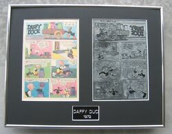 Daffy Duck Vintage 1972 Printing Plate - 4 page story!