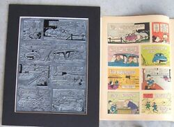 Walt Disney's Donald Duck Vintage 1962 Printing Plate And Page - One-of-a-kind