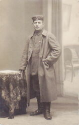 Photo Of Ww1 German Army Soldier Wearing Greatcoat