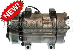 A/c Compressor W/clutch For Sanden 4085 4494 4757 - New