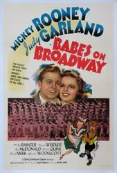 Babes On Broadway Judy Garland Mickey Rooney 1941 1sht.