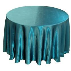 20 Pack 132 Round Wedding Satin Tablecloths 30 Colors