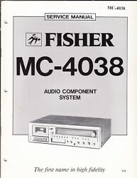 Fisher Service Manual For Mc4038 Audio Component System