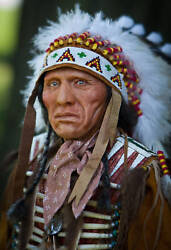 Eagle Dog Yankton Sioux American Indian Limited Edition Polymer Sculpture Ooak