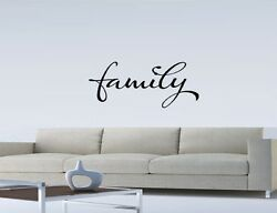 FAMILY WALL QUOTE DECAL STICKER VINYL HOME SAYING Family Vinyl Wall Art Letters