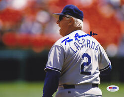 Tommy Lasorda Signed 8x10 Photo Los Angeles Dodgers Psa/dna Autographed