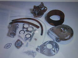 Harley Panhead Sands Super E Carb Kit 1955 To 1965 .. W/ Dual Throttle And Cables