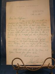 Original Staats Cotsworth Signed Fan Letter, Radio, Television, Theatre Star