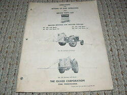 Oliver White Tractor 201 301 Low Pressure Sprayers Operatorand039s Manual And Parts Boo