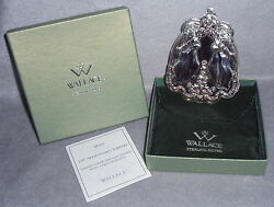 2010 Wallace 10th Annual Grande Baroque Angel Sterling Silver Christmas Ornament