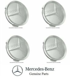 Mercedes W124 W126 R129 W140 OES Center Hub Cap For Alloy Wheel 7mm Set 4