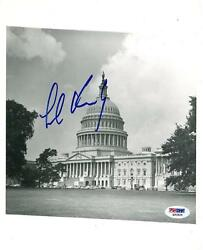 Ted Kennedy Signed Us Capitol Building Authentic 8x10 Photo Psa/dna Q33524