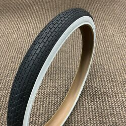 Bicycle Tire White Wall Fit Sears Huffy Amf Roadmaster 20x1.75 Brick Tread