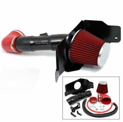 Bcp Matte Black / Red 05-09 Mustang 4.6l V8 Cold Air Intake Induction+filter
