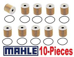 10-pieces Oem Mahle Oil Filters For Volvo S60 S70 S80 V40 V70 Xc90
