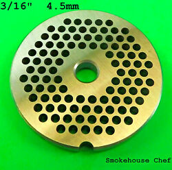 22 X 3/16 Meat Grinder Plate Stainless Steel Fits Hobart Tor-rey Lem And More