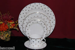 12 kate spade Larabee Road Platinum 5pc Settings New USA
