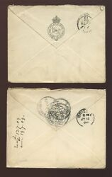 Barbados 1909 Royal Mail Steam Packet + Official Envelopes To Bristol...pontifex