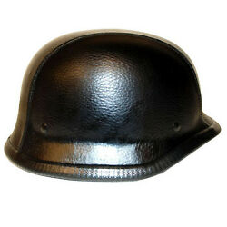 New Motorcycle Scooter Mopeds Half Face German Style Novelty Helmet Leathe Black