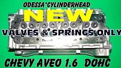 New Gm Chevy Aveo 1.6 Dohc Cylinder Head 04-07 Valves And Springs Only