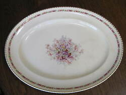 Vtg Johnson Brothers Old English Queen's Boquet 12 5/8 X16 1/4 Serving Platter