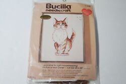 Bucilla #3518 quot;Available for Light Mousekeepingquot; Kitty Cat Kit Vintage NEW