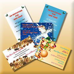 Personalised New Year's Eve Invitations Party Invites Dinner Drinks Celebration