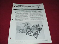 International Harvester Mounted Sprayers For Farmall Tractor Dealerand039s Brochure