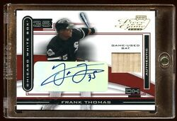 Frank Thomas 2003 Piece Of The Game Auto 08/10 Game Used Bat Super Rare Beauty
