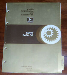 John Deere 6329d Oem Engine And Accessories Parts Manual Pc1418