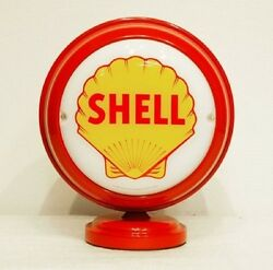 Shell Lighted Mini Gas Pump Globe Red Body Gasoline Oil Automobile Beer Pop Sign