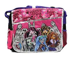 Black and Pink Classmates Monster High Messenger Laptop Bag for Kids - Licensed