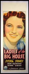 Ladies Of The Big House Silvia Sidney Pre-code 1931 Richardson Daybill