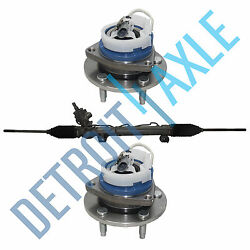 Complete Rack And Pinion Assembly + 2 New Front Wheel Hub Assemblies For Impala