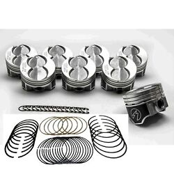 Ford 351w 5.8 Speed Pro Hypereutectic Coated Flat Top Pistons+moly Rings +.040