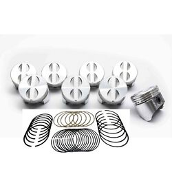 Chevy 283 Sealed Power/federal Mogul Cast Flat Top 4vr Pistons+rings Set/kit +30