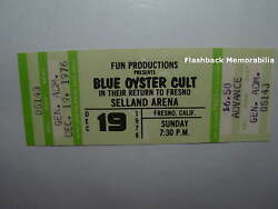 Blue Oyster Cult Unused Concert Ticket 1976 Fresno Selland Arena B.o.c Very Rare